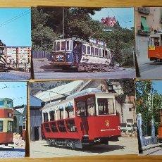 Postales: LOTE 6 POSTALES DE TRANVIAS EUROFER AMICS DEL FERROCARRIL - VER FOTOS Y LEER ANUNCIO. Lote 151499290