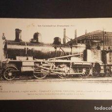 Postales: FRANCIA LOCOMOTORA TREN FERROCARRIL MAQUINA POSTAL. Lote 153623602