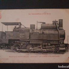 Postales: FRANCIA LOCOMOTORA TREN FERROCARRIL MAQUINA POSTAL. Lote 153623926