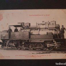 Postales: FRANCIA LOCOMOTORA TREN FERROCARRIL MAQUINA POSTAL. Lote 153623950