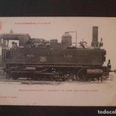 Postales: FRANCIA LOCOMOTORA TREN FERROCARRIL MAQUINA POSTAL. Lote 153623986