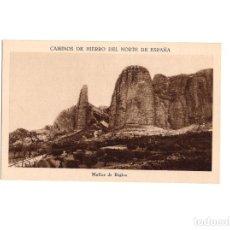 Postales: CAMINOS DE HIERRO DEL NORTE DE ESPAÑA.- MALLOS DE RIGLOS. Lote 153883290