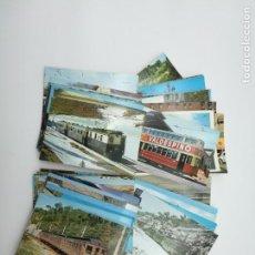 Postales: 45 POSTALES DE TRENES TRASPORTES. Lote 154042062