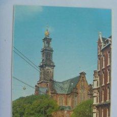 Postales: POSTAL DE AMSTERDAM ( HOLANDA ): WESTERKERK . TRANVIA , ETC . AÑOS 60. Lote 155391006