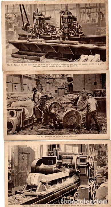 Postales: PS8166 POSTALES DE ENSEÑANZA. 16 POSTALES SOBRE CONSTRUCCIÓN DE LOCOMOTORAS HANOMAG. PRINC. S. XX - Foto 3 - 156073998