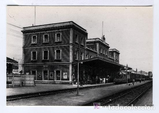 UNA POSTAL DE ESTACIÓN DE MATARÓ ( BARCELONA ) AÑO 1931 Nº 4034 SIN CIRCULAR (Postales - Postales Temáticas - Trenes y Tranvías)