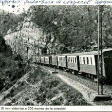Postales: AIGUAFREDA-COLONIA OLLER-EL TREN ELECTRICO- AÑO 1950. Lote 158776714