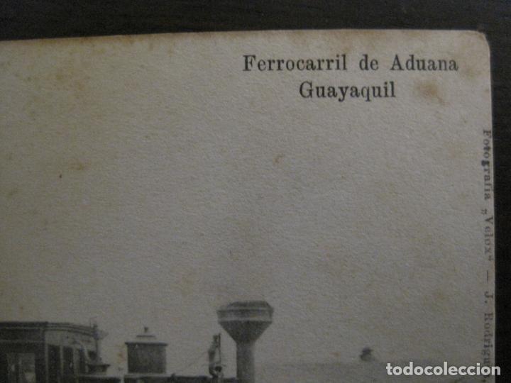 Postales: ADUANA DE GUAYAQUIL-FERROCARRIL-REVERSO SIN DIVIDIR-POSTAL ANTIGUA-VER FOTOS-(58.441) - Foto 3 - 159137362