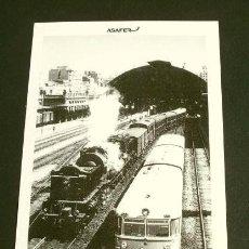 Postales: ESTACION VALENCIA TERMINO 1963 - POSTAL Nº 23 COLECCION ASAFER - LOCOMOTORA Y TREN RAPIDO SEVILLA. Lote 162380838