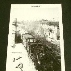 Postales: ESTACION VALENCIA TERMINO 1963 - POSTAL Nº 22 COLECCION ASAFER - LOCOMOTORA MATAPOZUELOS TREN PASAJE. Lote 162381266