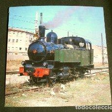 Postales: POSTAL RECORTADA Nº 274 - LOCOMOTORA 1-3 OT Nº 95 - ESTACION EL GRAO DE VALENCIA 1989. Lote 162404618