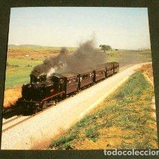 Postales: POSTAL RECORTADA Nº 604 - LOCOMOTORA VAPOR 209 - RESTAURADA 1997 - MONISTROL MONTSERRAT -TREN CARBON. Lote 162405042