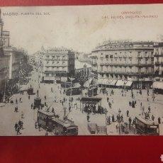 Postales: 1909 MADRID PUERTA SOL TRAVIAS. Lote 166268958