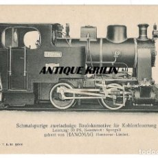 Postales: ANTIGUA POSTAL PUBLICITARIA LOCOMOTORAS ALEMANAS HANOMAG PK 2104. Lote 166776230