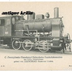 Postales: ANTIGUA POSTAL PUBLICITARIA LOCOMOTORAS ALEMANAS HANOMAG PK 1503. Lote 166790566