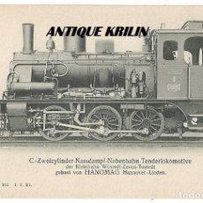Postales: ANTIGUA POSTAL PUBLICITARIA LOCOMOTORAS ALEMANAS HANOMAG PK 2105. Lote 166792490