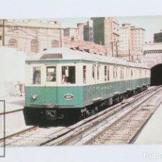 Postales: POSTAL DE TREN - Nº 391 FERROCARRIL METROPOLITANO DE BARCELONA COCHE M 128 - LINEA 1 - EUROFER. Lote 168414173