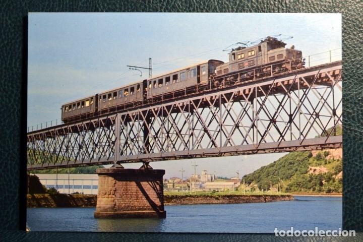 FERROCARILES VASCONGADOS - PUENTE SOBRE EL UROLA - ZUMAYA (Postales - Postales Temáticas - Trenes y Tranvías)