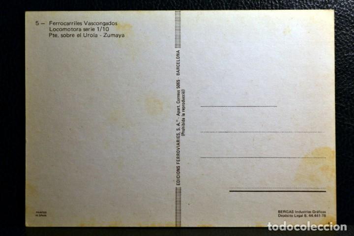 Postales: FERROCARILES VASCONGADOS - PUENTE SOBRE EL UROLA - ZUMAYA - Foto 2 - 174244869