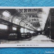 Postales: FERROCARRILES ARGENTINOS. BUENOS AIRES. HALL DE LA ESTACIÓN. ESCRITA EN JULIO DE 1927.. Lote 177114502