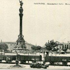 Postales: BARCELONA-MONUMENTO A COLÓN-FERROCARRIL-SOC. ATRACCIÓN DE FORASTEROS- M.N. PARIS- RARA. Lote 177259760