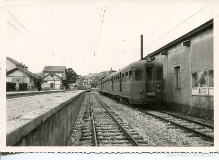 PLENCIA-VIZCAYA- ESTACIÓN FERROCARRIL-FOTOGRÁFICA- MUY RARA (Postales - Postales Temáticas - Trenes y Tranvías)