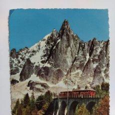 Postales: FERROCARRIL-CHAMONIX-MONT BLANC-POSTAL DE TREN-VER REVERSO-(63.019). Lote 179329137