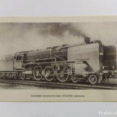Postales: FERROCARRIL-LOCOMOTORA PACIFIC ALEMANA-III EXPOSICION NACIONAL MODELOS-VER REVERSO-(63.229). Lote 180027906