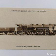 Postales: FERROCARRIL-LOCOMOTORA TIPO MONTAÑA-HUECOGRABADO MUMBRU-VER REVERSO-(63.230). Lote 180027981