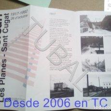 Postales: TUBALTREN LES PLANES SANT CUGAT TRIPTICO FGC 1992 ENVÍO 70 CENT 2019 B06. Lote 180177126