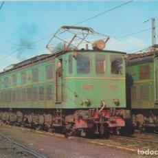 Postales: LOCOMOTORA ELECTRICA 7103, EUSKALDUNA 1928 – EDICIONS FERROVIARIES Nº 71 – S/C. Lote 180460391