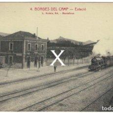Postales: INÉDITA EN TC - ROISIN - BORGES DEL CAMP (TARRAGONA) – NUM. 4 – ESTACIÓ FERROCARRIL, ESTACIÓN TREN. Lote 180512357