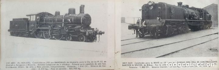 Postales: COMPOSICION DE 7 POSTALES FERROVIARIAS. DIFERENTES LOCOMOTORAS. SIGLO XX. - Foto 3 - 181468467