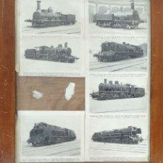 Postales: COMPOSICION DE 7 POSTALES FERROVIARIAS. DIFERENTES LOCOMOTORAS. SIGLO XX. . Lote 181468467