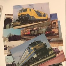Postales: LOTE 16 POSTALES DISTINTAS RENFE LOCOMOTORAS. Lote 182793342