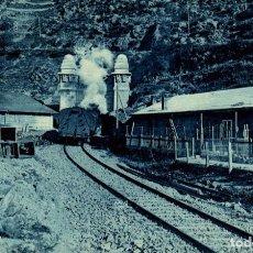 Postales: FERROCARRIL TRANSPIRENAICO TUNEL DE TOSAS. Lote 183346766