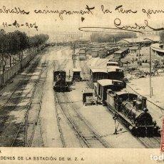 Postales: FERROCARRIL BARCELONA ANDENES DE LA ESTACION DE M Z A. Lote 183346782