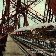 Postales: NORTH EXPRESS CROSSING FORTH BRIDGE. Lote 183346835