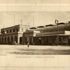 Postales: ALEXANDRIA CAIRO STATION. Lote 183346842