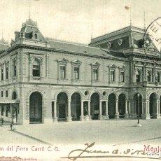 Postales: ESTACION DEL FERRO CARRIL MONTEVIDEO. Lote 183346885