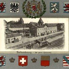 Postales: ORIGINAL BETTEMBOURG. LA GARE PERRON. Lote 183346890