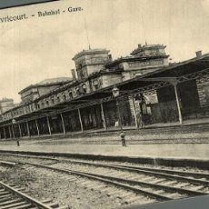 Postales: AVRICOURT BAHNHOF GARE. Lote 183346892