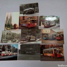 Postales: 10 POSTALES DE TRANVÍAS. Lote 183458817