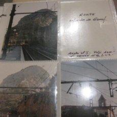 Postales: EXCEPCIONAL MONOGRAFICO CORREDOR GARRAF FERROCARRILES RENFE TUNELES ESTACION TREN VAGON 77 FOTOS. Lote 184042655