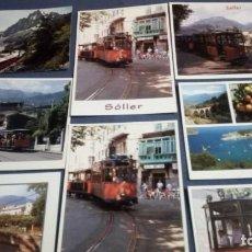 Postales: LOTE DE 92 POSTALES DE TRENES. Lote 186091567