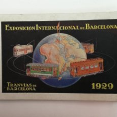 Postales: TRANVÍAS DE BARCELONA EXPOSICIÓN INTERNACIONAL 1929. Lote 188577373
