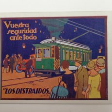 Postales: TRANVÍAS DE BARCELONA EXPOSICIÓN INTERNACIONAL 1929. Lote 188579035