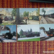 Postales: 6 POSTALES TRENES DIFERENTES VAPOR. Lote 188669732