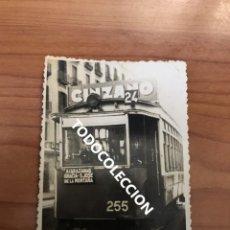 Postales: ANTIGUA FOTOGRAFIA TRANVIA - ATARAZANAS GRACIA - S. JOSÉ DE LA MONTAÑA - PUBLICIDAD CINZANO. Lote 189085850