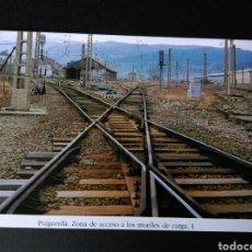 Postales: HISTORIA FERROCARRILES GERONA PUIGCERDÀ ZONA DE ACCESO A LOS MUELLES DE CARGA 1. Lote 191354922